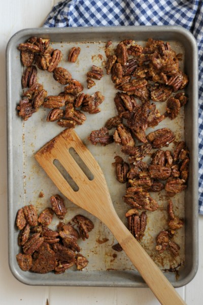 Brown Sugar Curry Pecans are a delicious snack, but even more amazing served on top of salads or desserts. You'll love this versatile recipe! @heathersdish