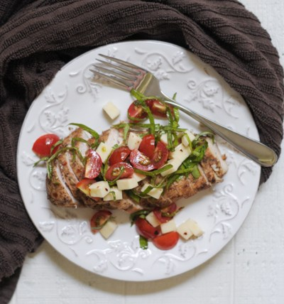 Simple Balsamic Caprese Chicken