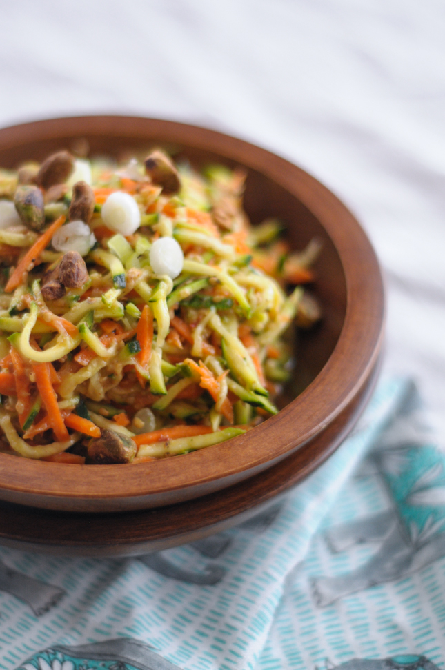 Sesame Zucchini Noodle Salad from @heathersdish is simple, beautiful, and good for you too!