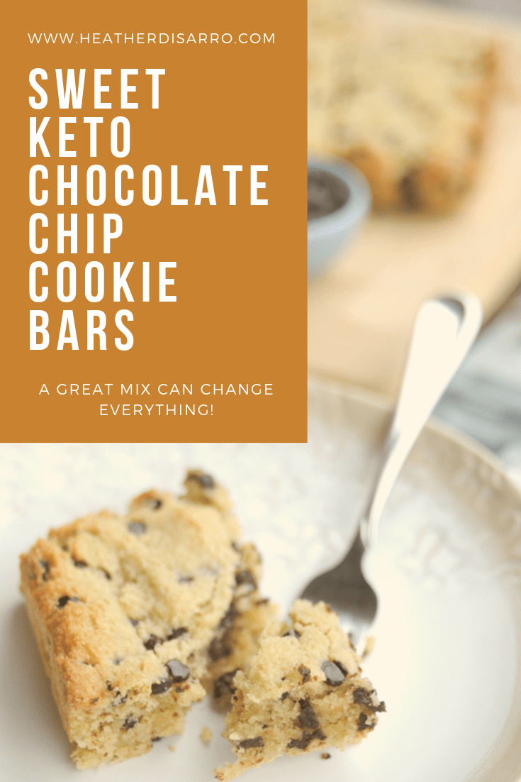 Sweet Keto Chocolate Chip Cookie Bars from Explorado Market are a delicious way to meet that sweet need without breaking your low carb day! @heathersdish