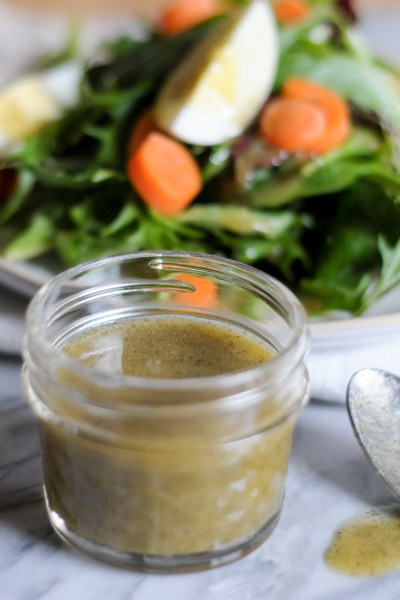 The Little Black Dress of Salad Dressings is the last dressing recipe you'll ever need. Double or triple as needed for a dressing you'll reach for time and again! @heathersdish