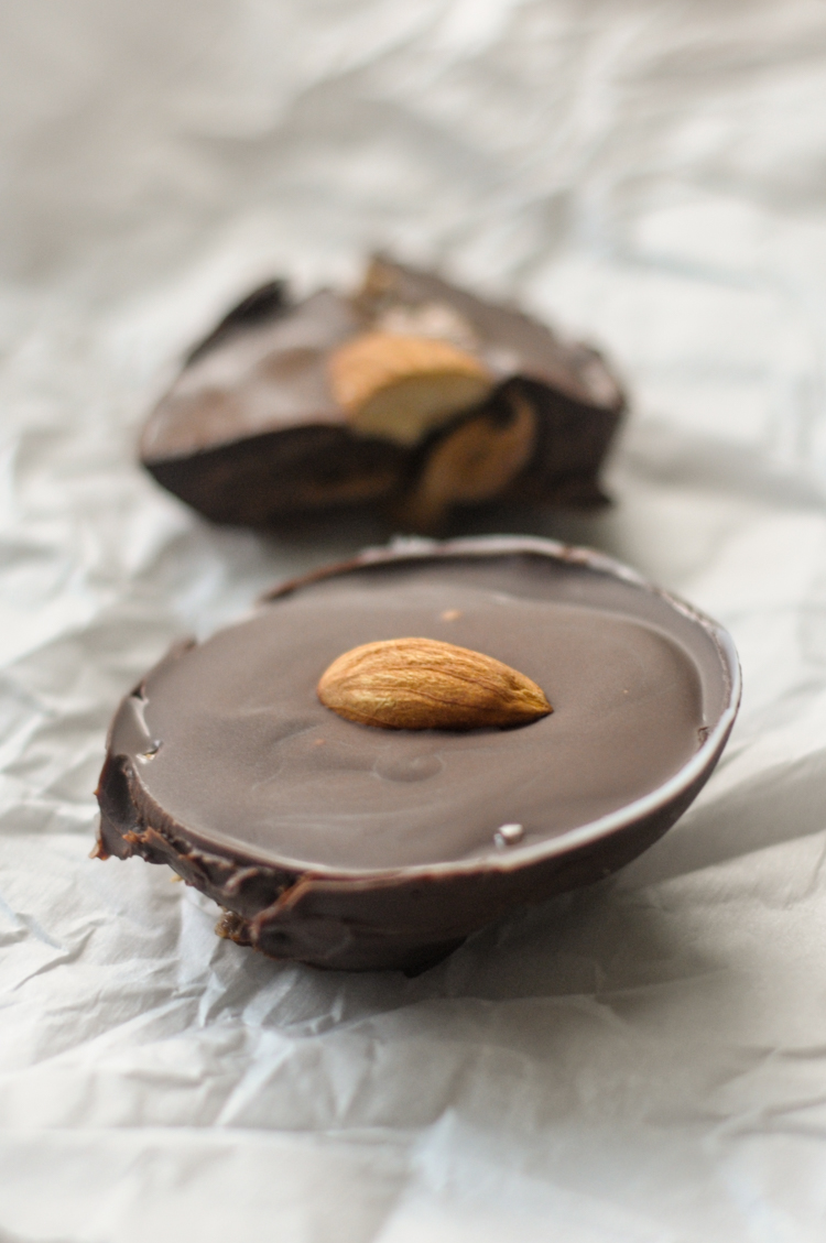 Homemade Almond Butter Cups for One gives you the perfect ratio of chocolate to almond butter to create a perfect treat for one to enjoy anytime. @heathersdish
