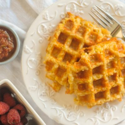 Cheesy Rice Waffles