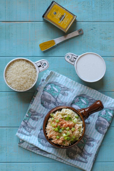 Coconut Curry Rice - the perfect side dish to any number of ethnic dishes! From @RicelandFoods and @heathersdish