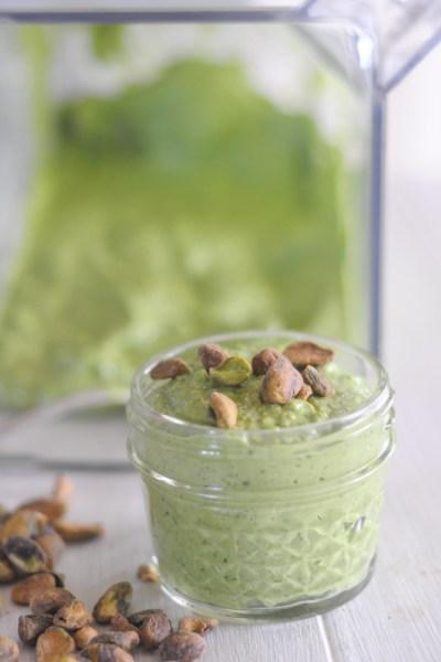Hulk Sauce: Creamy Spinach Pistachio Pesto