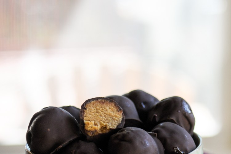 Lightened Up Pumpkin Buckeyes