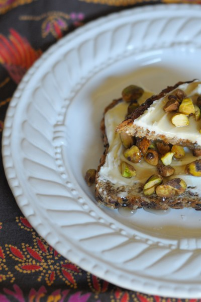 Maple Mascarpone Pistachio Toast on @heathersdish