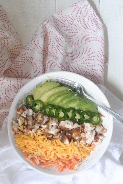 Quick and Easy Low-Carb Fish Taco Bowls from @heathersdish