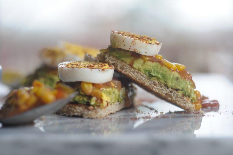 Quick Southwest Avocado Toast with Hard Boiled Eggs #sponsored #eggceptionallygreat @heathersdish @greatdayfarms