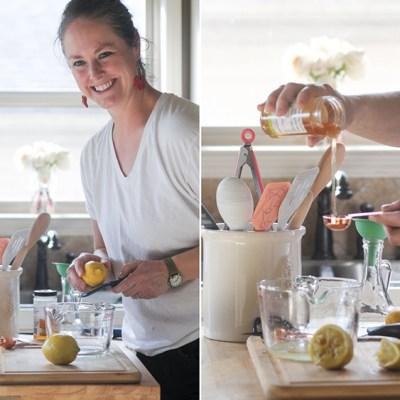 Naturally Sweetened Honey Lemon Simple Syrup