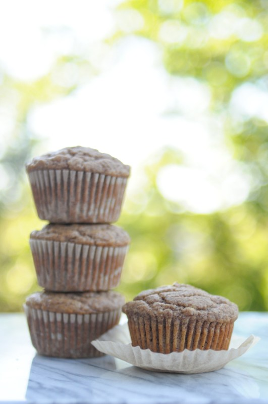No Sugar Added Paleo Banana Almond Muffins are the perfect way to get that sweet quickbread fix without giving in to sugars or sweeteners! @heathersdish