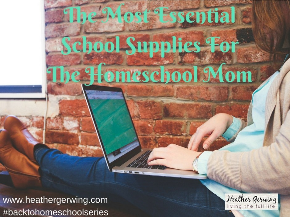 homeschool mom school supplies