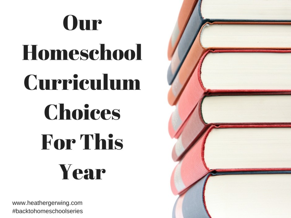 homeschool curriculum choices for this year