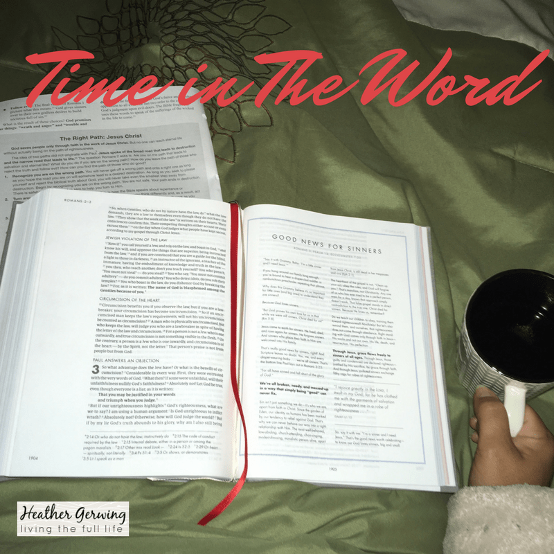 Spending Time in The Word is important if you want to be living the full life!