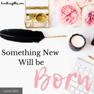 Something New will be Born
