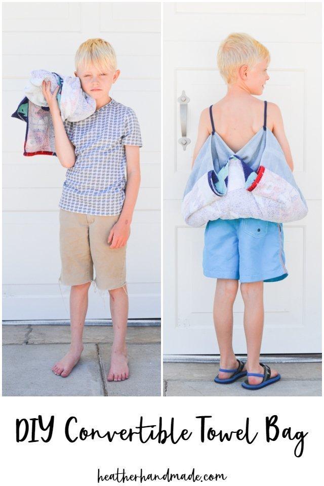 Convertible Towel Backpack Sewing Tutorial