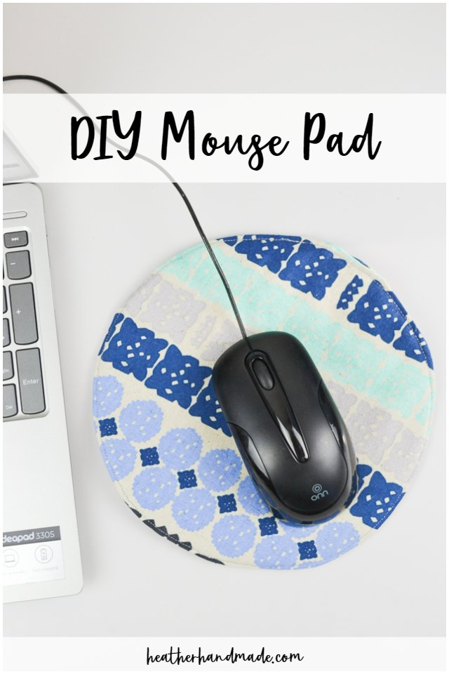 Sewing tutorial: DIY fabric mouse pad