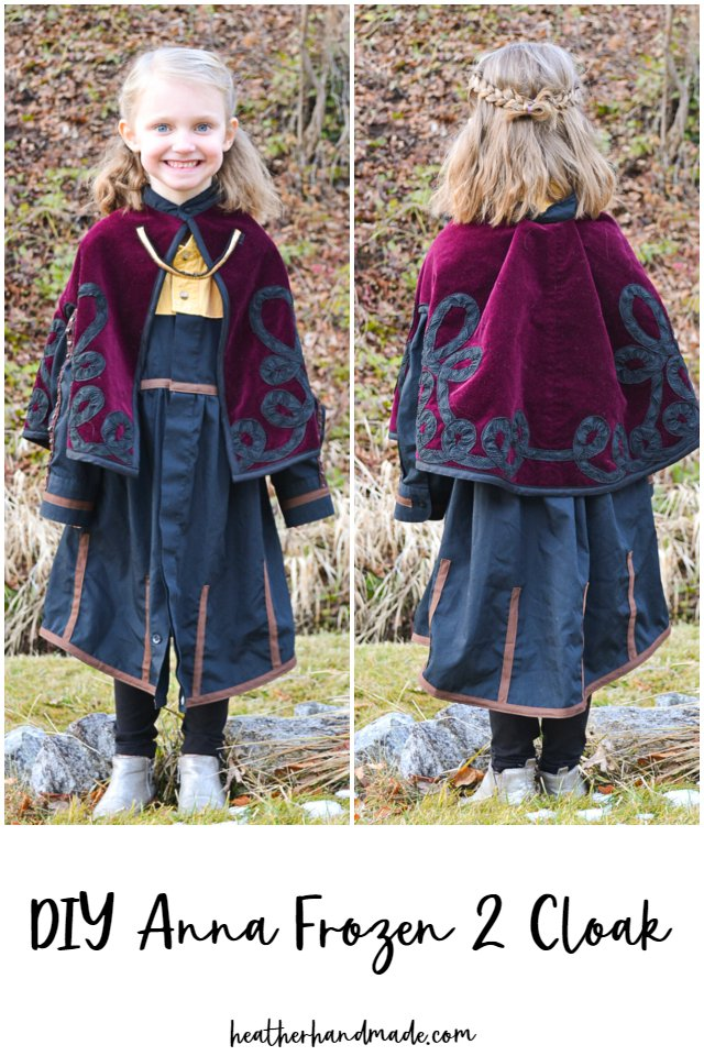 Sewing tutorial: Anna Frozen 2 cloak