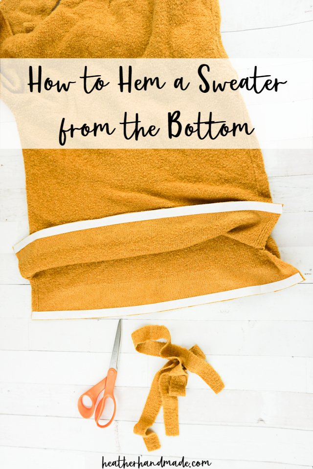 Sewing tutorial: Use hem tape to shorten a sweater