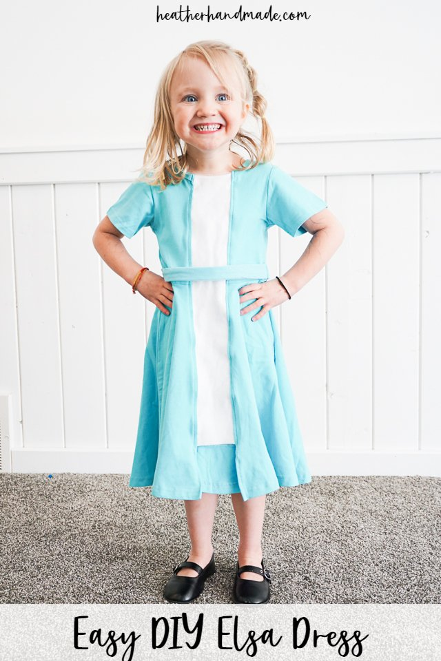 DIY sewing tutorial: Easy Elsa dress refashion
