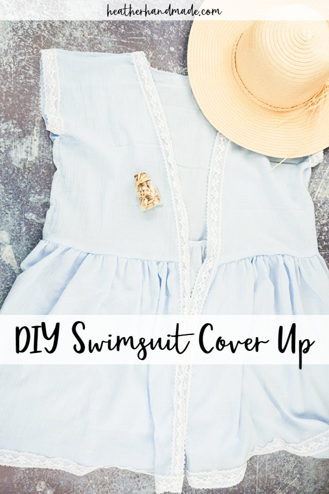 Lace Trim Swimsuit Coverup - DIY Sewing Tutorial