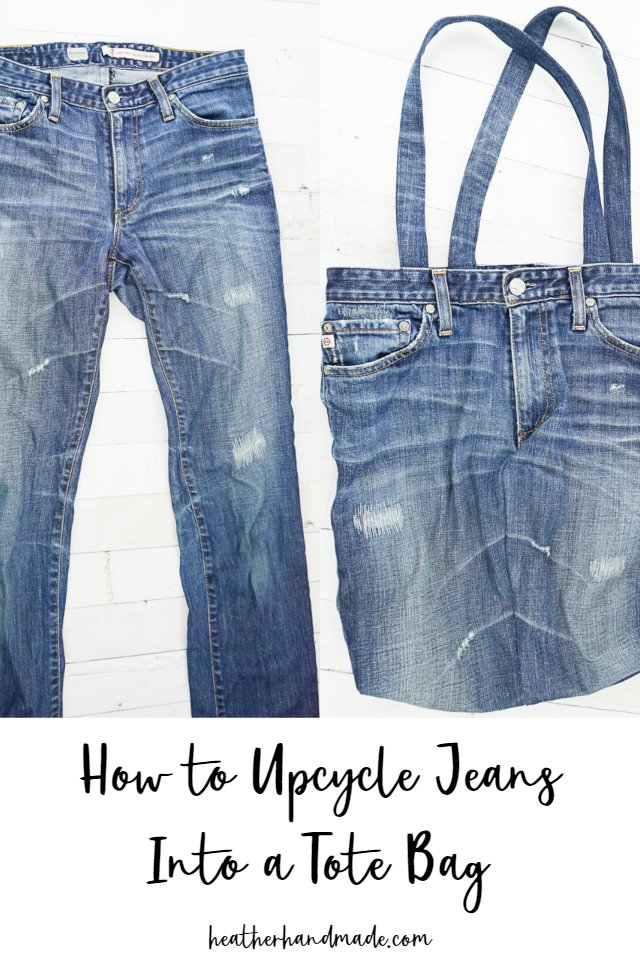 Upcycled Jeans Tote Bag - DIY Sewing Tutorial