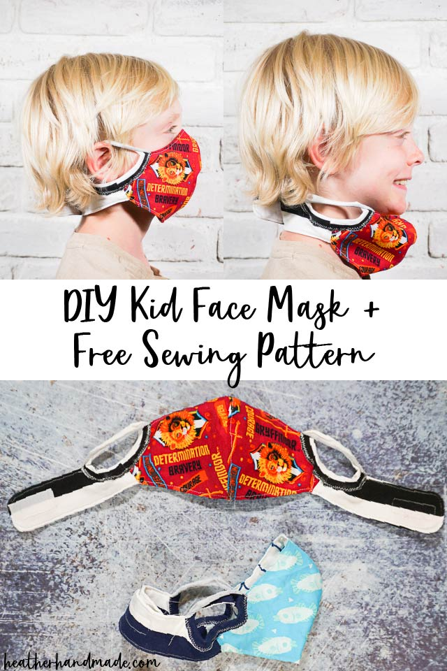 Kids Face Mask with Neckband - DIY Sewing Tutorial