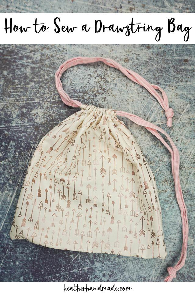 Easy Drawstring Bag Sewing Tutorial