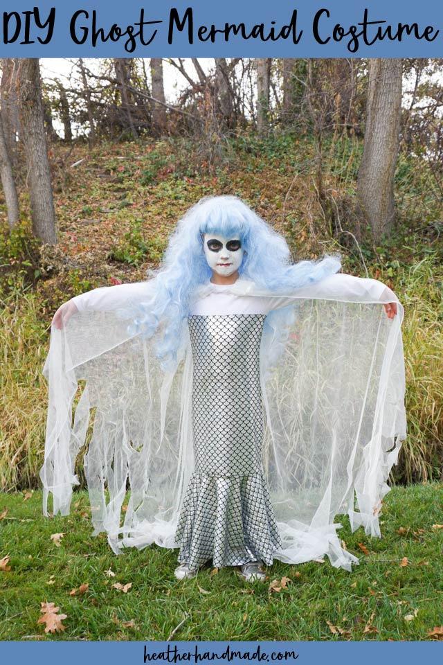 Ghost  Mermaid Halloween Costume - Sewing Tutorial