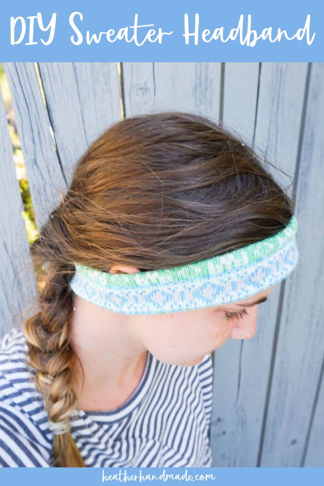 Upcycled Sweater Headband - DIY Sewing Tutorial