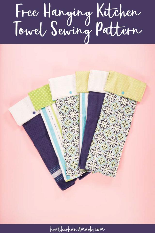 DIY Hanging Kitchen Towel - Free Sewing Pattern