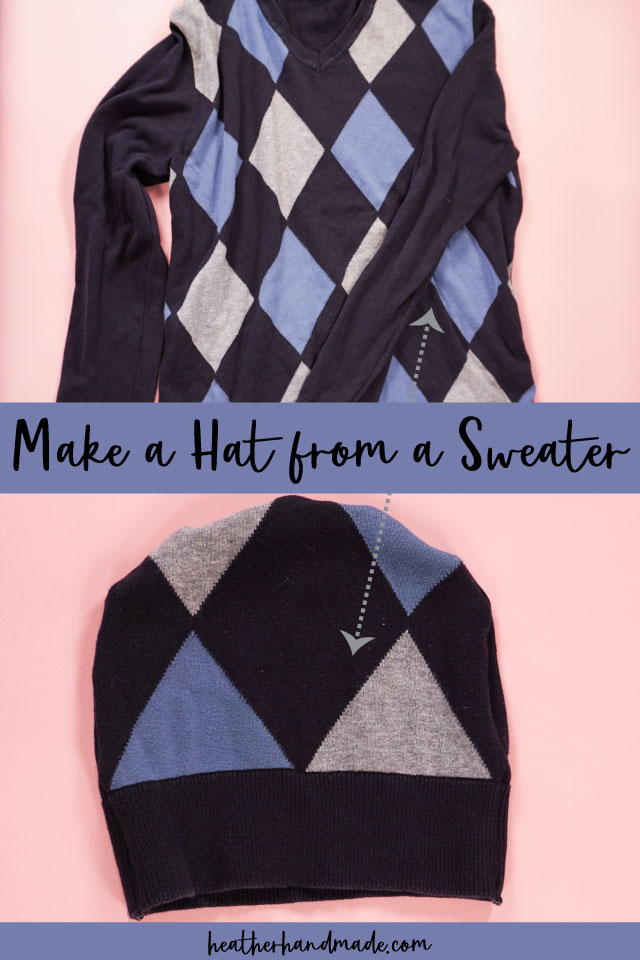 DIY Hat from an Upcycled Sweater - Sewing Tutorial