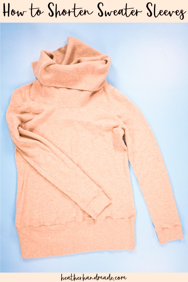 Easy Way to Shorten Sweater Sleeves - DIY Sewing Tutorial