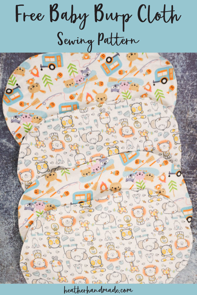 Easy Baby Burp Cloth - Free Sewing Pattern