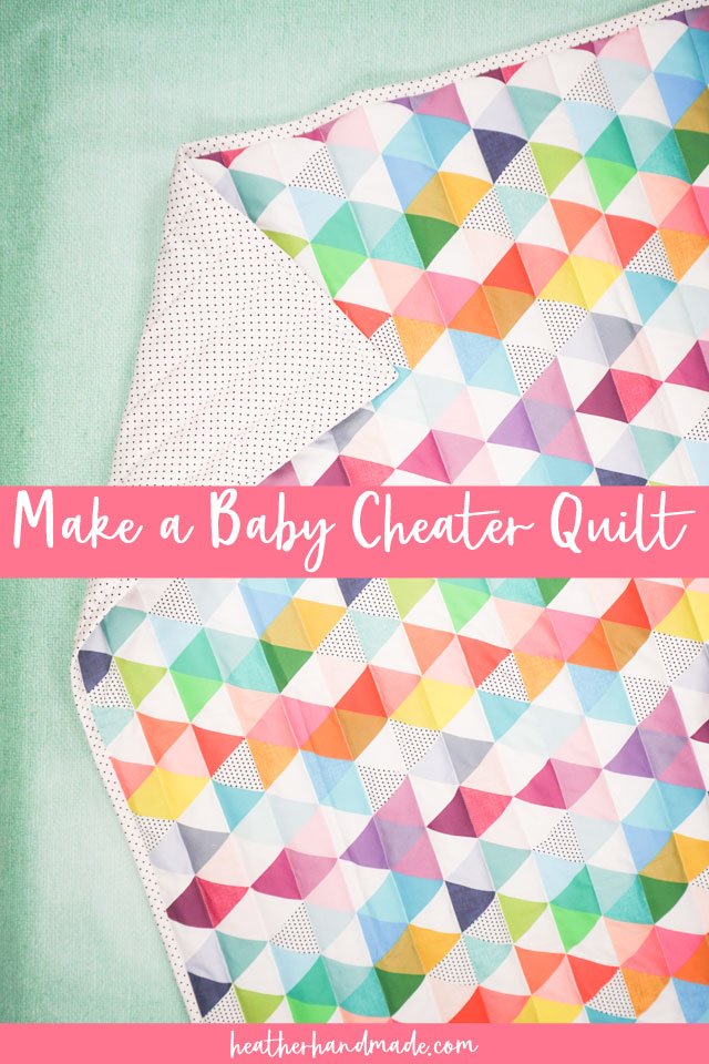 Cheater Baby Quilt - Sewing Tutorial