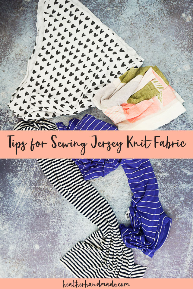 Tips and Tricks for Sewing Jersey Knit Fabric