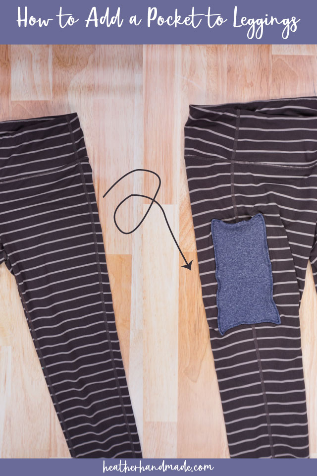 Add a Phone Pocket to Leggings - DIY Sewing Tutorial