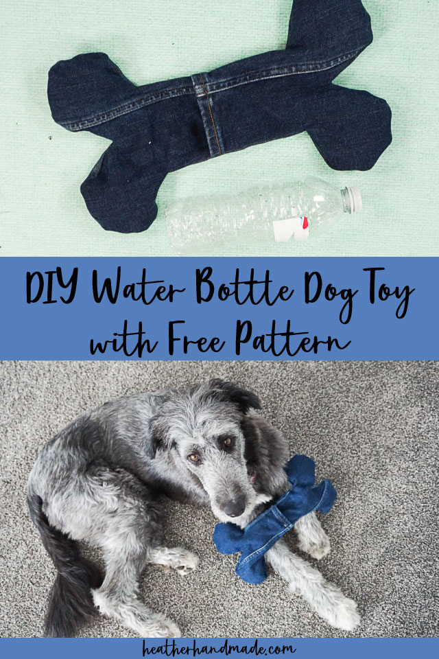 Upcycled Water Bottle Dog Toy - Free Sewing Pattern