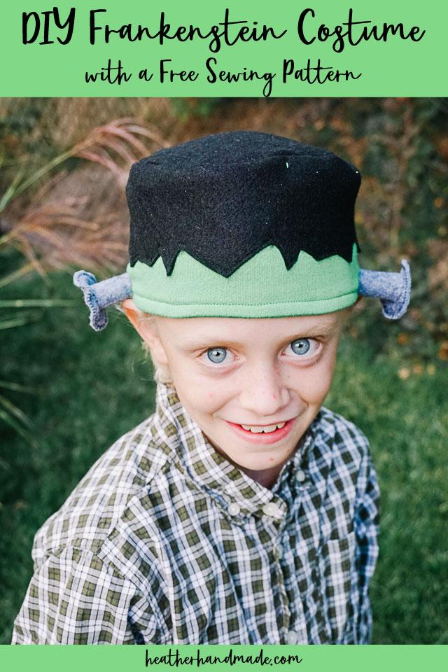 Frankenstein Hat Free Sewing Pattern