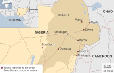 Nigeria, Borno State, Sep 2014 Source BBC