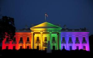 The Whitehouse was lit with rainbow coloured lights to celebrate the SCOTUS decision.