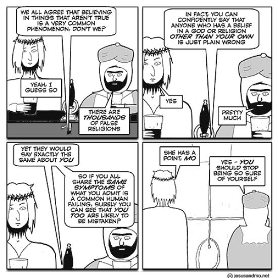 Jesus and Mo cartoon 28 Dec 2016