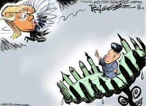 North Korea feels safe cartoon