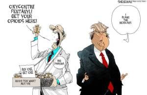 Trump drug companies cartoon