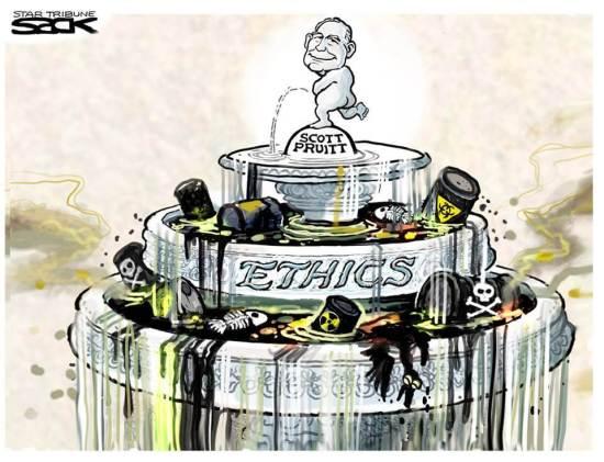 Pruitt No Ethics cartoon