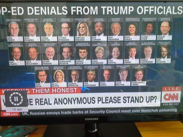 Pics of 27 Trump Officials who have given denials to CNN.