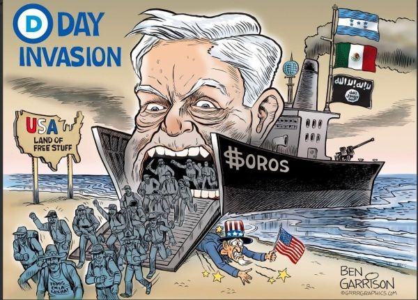 Anti Soros cartoon
