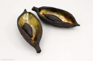 2 Black Pods with Seeds, 2017