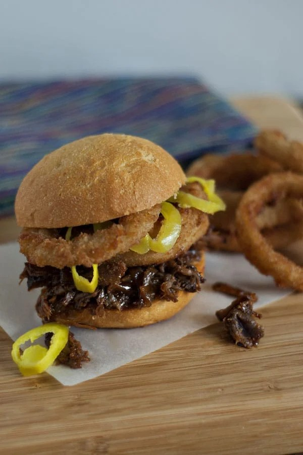 Saucy Crock Pot BBQ Beef Sandwiches