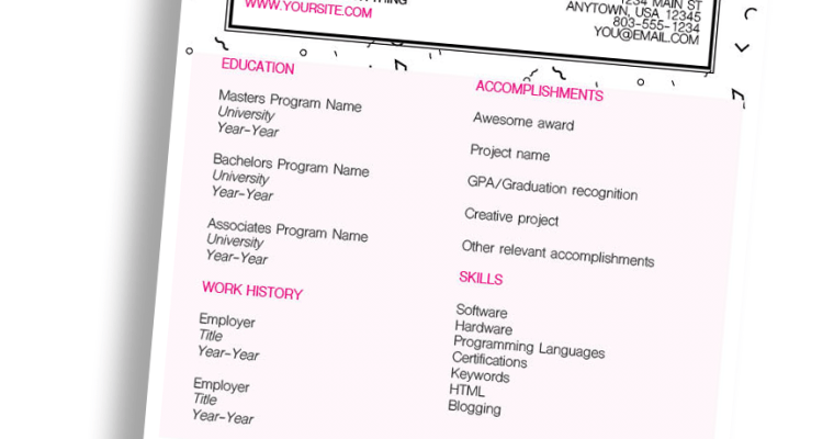 Diamonds CV/Resume InDesign Template (Free Download)